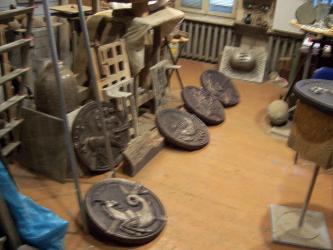 Studija - bronzos bareljefai  ,, Zodiako ženklai ,, - ruošiami interjerui ...