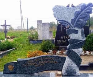 Seimo nario A. Sadkausko paminklas - granitas OLIVIN GREY-