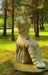 Skulptūros atrestauruotos ir pastatytos Birštono miesto parke